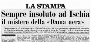 Mistero Ischia - La Dama in Nero morta a Lacco Ameno
