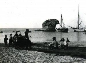 Pescatori a Lacco Ameno negli anni 50