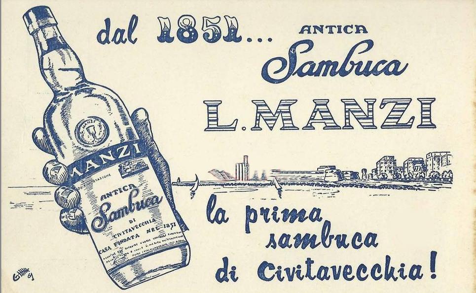Una pubblicità della Sambuca Manzi