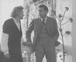 Rachele Mussolini a Forio con il figlio Romano.