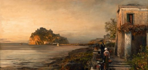 Achenbach 1886 - Ischia with View on to the Castello Aragonese