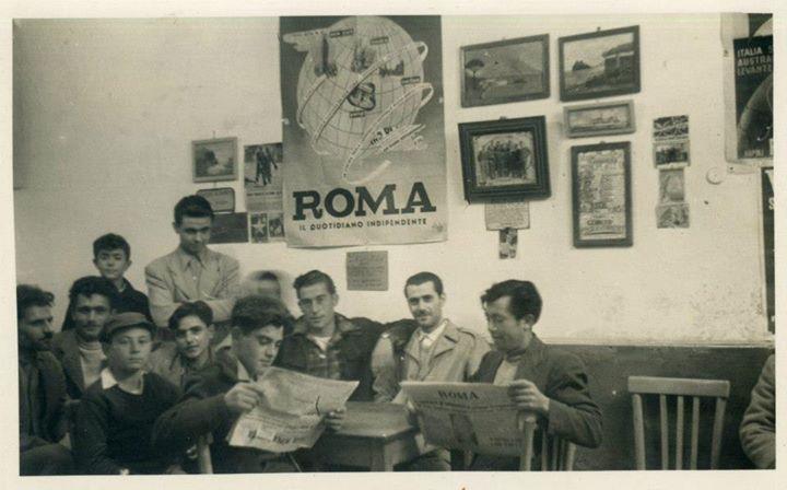 Il bar di una volta nella Testaccio degli anni '50