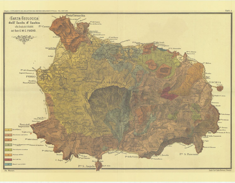 Ischia Cartina Turistica.Ischia In Cartine Mappe Antiche Tra 600 E 800