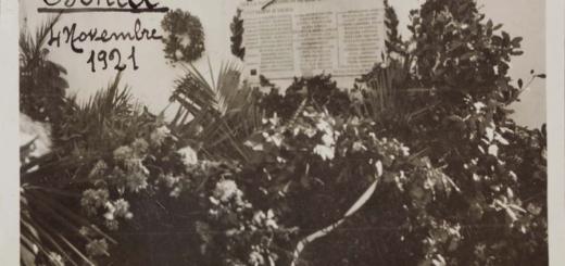 Ischia, 1921. Una foto del corteo del milite ignoto