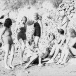 Turisti tedeschi nella Baia di San Montano Ischia - Foto dagli Archivi di Friburgo 1933