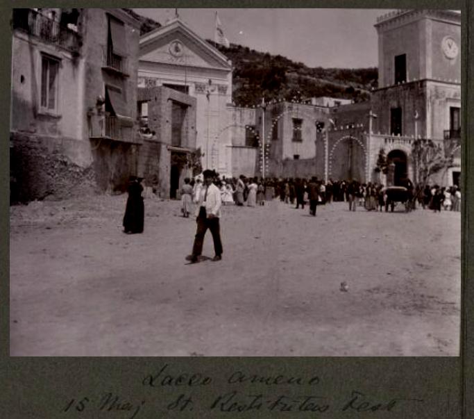 Ischia Festa S.Restituta - Paul Bergsøes 1910 Lacco Ameno piazza