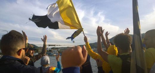 Ischia Calcio: festeggiamenti salvezza dopo play-out con l'Aversa (2015)