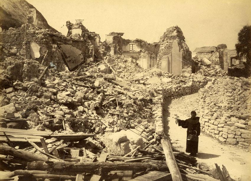 Casamicciola, Piazza Maio dopo terremoto 1883