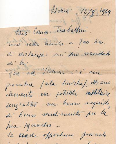 Ischia calcio Ciro Barile al Milan lettera