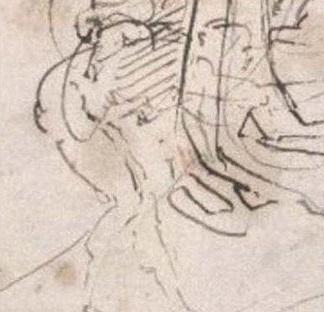 Caricatura Michelangelo Bonarroti Vittoria Colonna