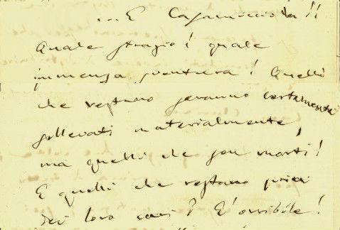 Giuseppe Verdi Terremoto Casamicciola Ischia lettera